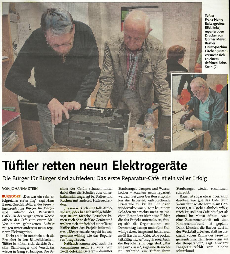Tüftler retten neun Elektrogeräte
